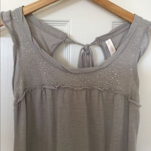 FREE IN BUNDLE Gray Studded Sleeveless Top
